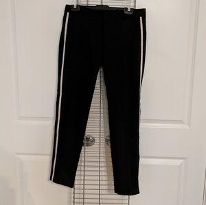 Zara Black Trousers w/ Side Stripe